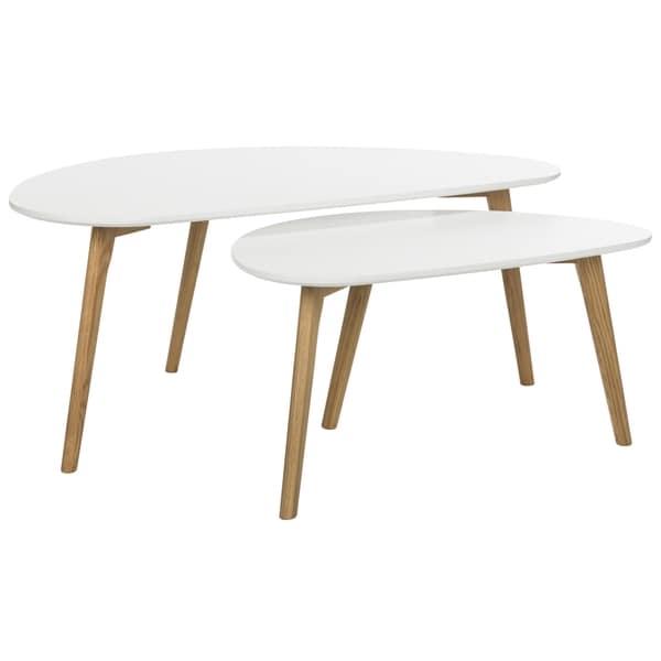 Overstock White Coffee Table.Shop Safavieh Olida Double White Coffee Table 47 2 X 23 6 X 17 7