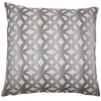 Heulwen Geometric 22-inch Down Feather Throw Pillow Lilac