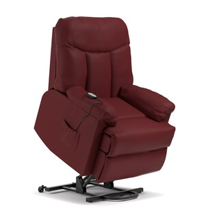 Oliver & James Bruno Burgundy Leather Power Recline Chair