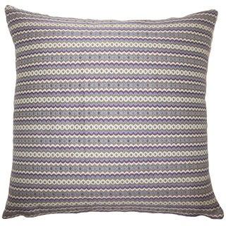 Keften Geometric 22-inch Down Feather Throw Pillow Violet