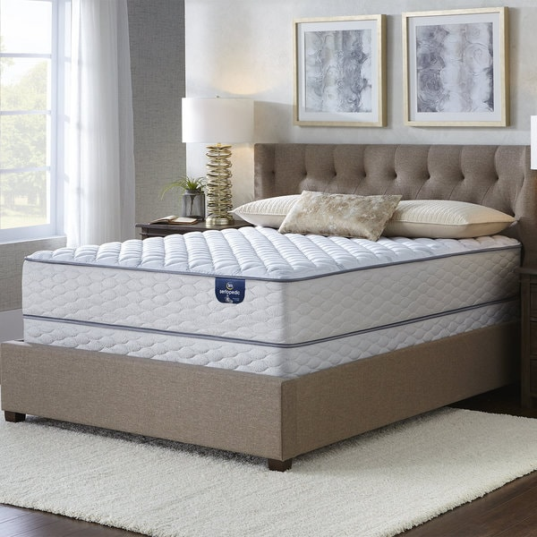 shop serta westview plush king size mattress set on sale. Black Bedroom Furniture Sets. Home Design Ideas