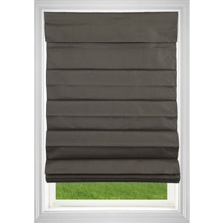 Room Darkening Cordless Fabric Roman Shade in Chocolate (More options available)