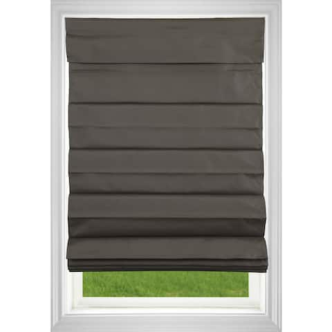Chocolate Room Darkening Cordless Fabric Roman Shade