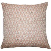 Ladarius Geometric 22-inch Down Feather Throw Pillow Tangerine