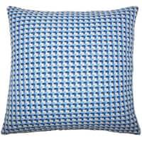 Nadezhda Geometric 22-inch Down Feather Throw Pillow Bluebell