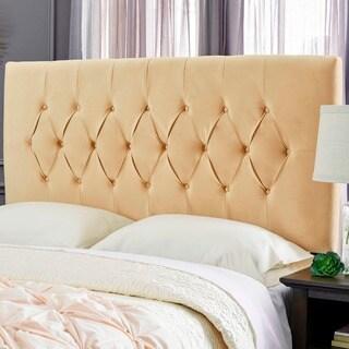 Humble + Haute Hudson Velvet Honey Beige Upholstered Headboard