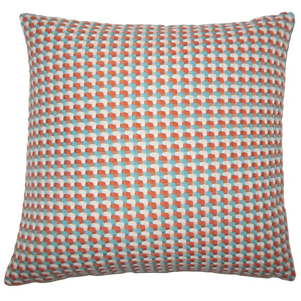 """Nadezhda Geometric 22"""" x 22"""" Down Feather Throw Pillow Regatta"""