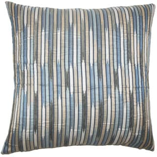 Oceane Striped 22-inch Down Feather Throw Pillow Shore