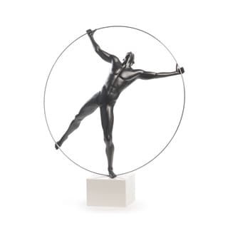 Finesse Decor Ring Man Resin Sculpture
