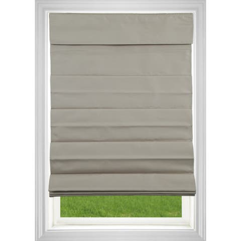 Khaki Room Darkening Cordless Fabric Roman Shade