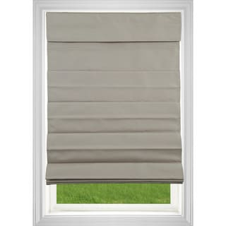 Link to Khaki Room Darkening Cordless Fabric Roman Shade Similar Items in As Is