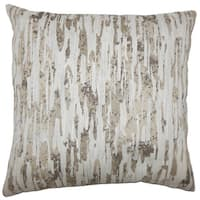 Xanti Graphic 22-inch Down Feather Throw Pillow Alabaster