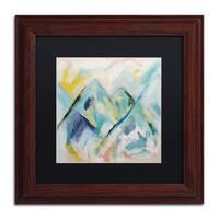 Carrie Schmitt 'Mile High' Matted Framed Art - Blue