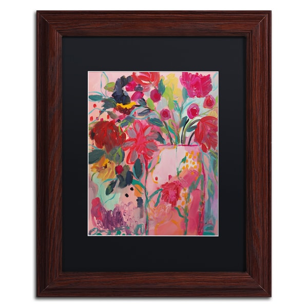 Carrie Schmitt 'May Flowers' Matted Framed Art - Pink