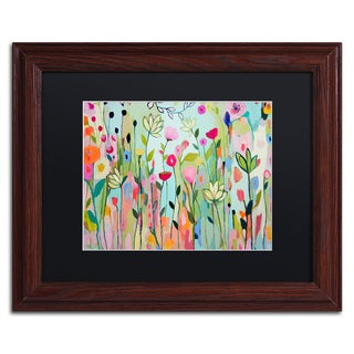 Carrie Schmitt 'Padmasana' Matted Framed Art