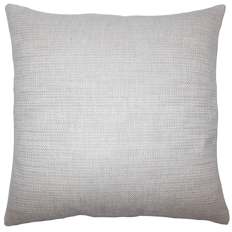Daker Weave 22 x 22 Down Feather Throw Pillow Linen (22 x 22)