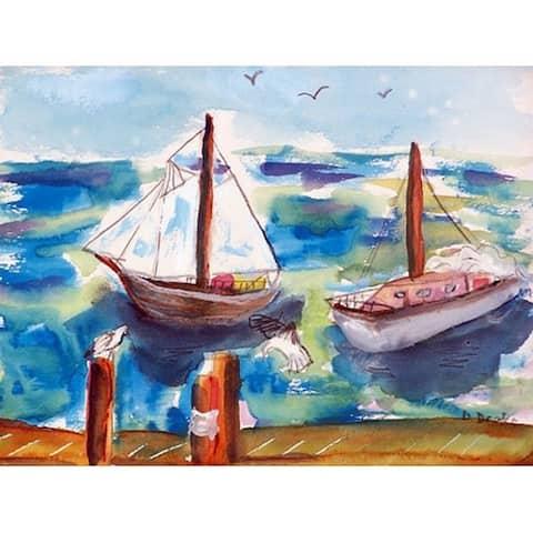 Two Sailboats Door Mat 18x26