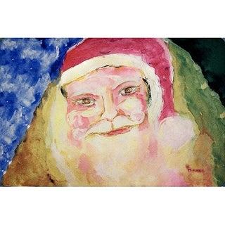 Betsy Drake Santa Face Door Mat (18-inch x 26-inch)