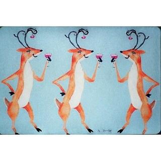 Drinking Deer Door Mat 18x26