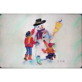 Betsy Drake Snowman Door Mat (18-inch x 26-inch)