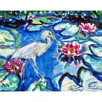 Heron & Waterlilies Door Mat 18x26