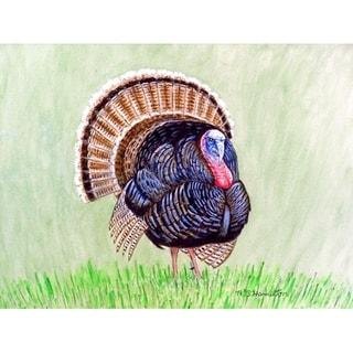 Betsy Drake Multicolor Wild Turkey Doormat (18 x 26 inches)
