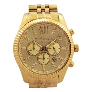 Michael Kors Men's MK8281 Gold-Tone Fluted Bezel Chronograph Watch