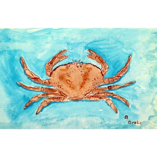 Betsy Drake 'Red Crab' Door Mat (18 Inch x 26 Inch)