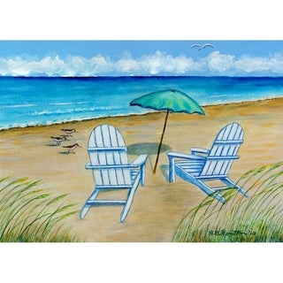Betsy Drake Multicolor Adirondack Chairs Doormat (18 x 26)