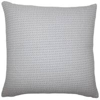 Paley Plaid 22-inch Down Feather Throw Pillow Grey