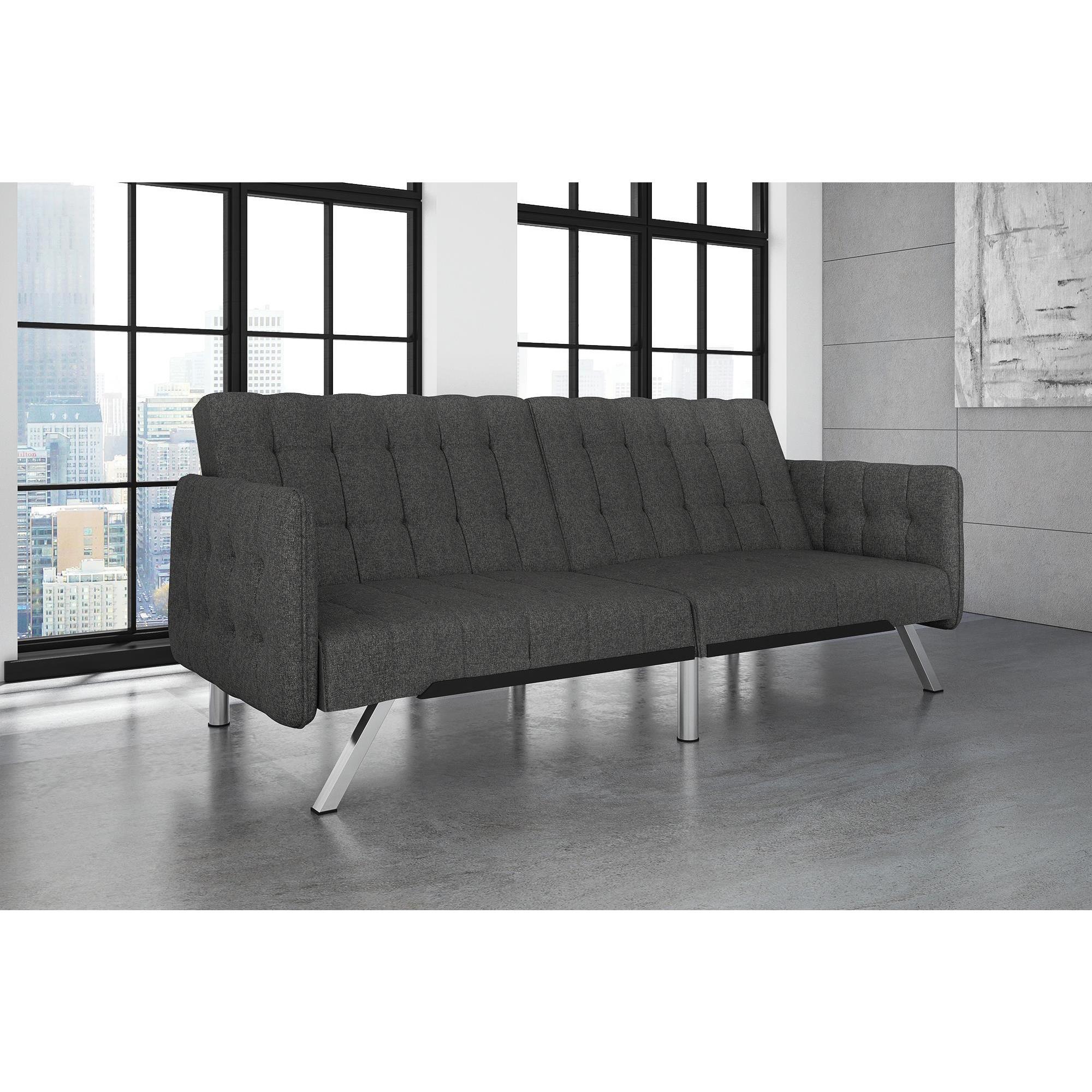 Shop DHP Emily Convertible Grey Linen Sofa Sleeper