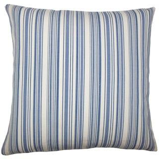 Velika Striped 22-inch Down Feather Throw Pillow Blue