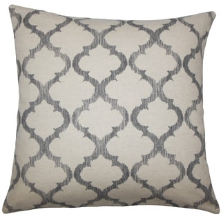 Fortuo Geometric 22-inch Down Feather Throw Pillow Grey