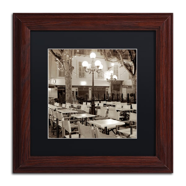 Alan Blaustein 'Cote d'Azur Cafe I' Matted Framed Art