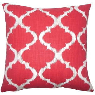 Gayora Geometric 22-inch Down Feather Throw Pillow Cherry