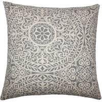 Kiasax Damask 22-inch Down Feather Throw Pillow Grey