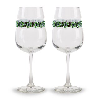Shimmering Wines by Stemware Designs Tuscany Wine Glasses (Set of 2)