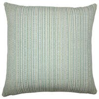 Macall Striped 22-inch Down Feather Throw Pillow Aqua Green