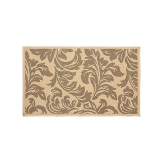 Laura Ashley Devon Taupe Indoor/Outdoor Accent Rug - (24 x 36 in.)