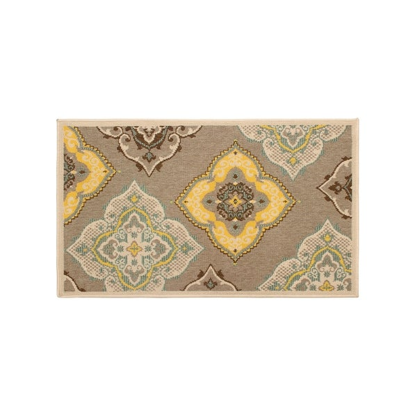 Laura Ashley Allie Taupe Indoor/Outdoor Accent Rug - 2' x 3'