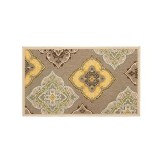 Laura Ashley Allie Taupe Indoor/Outdoor Accent Rug - (24 x 36 in.)