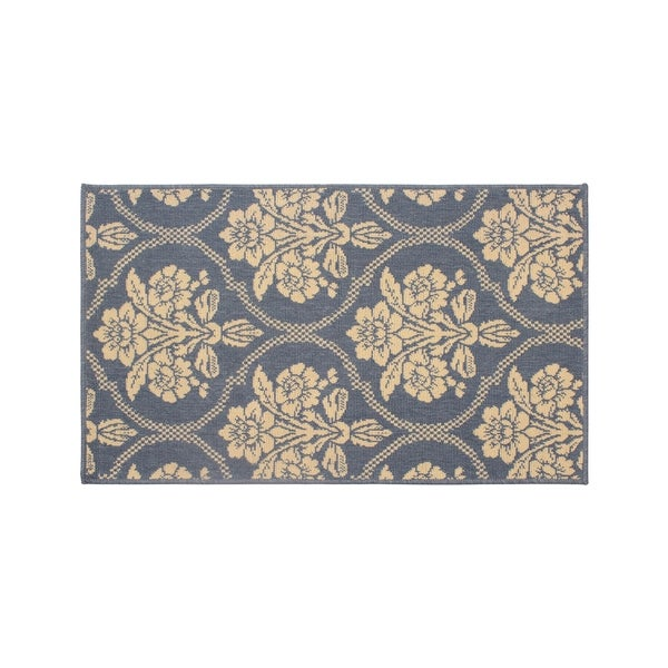 "Laura Ashley Tatton in Chain Navy Accent Rug - 2'2"" x 4'"