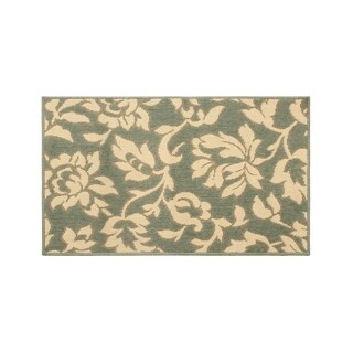 Laura Ashley Bennet Ash Green Indoor/Outdoor Rug - 27 x 45 in.