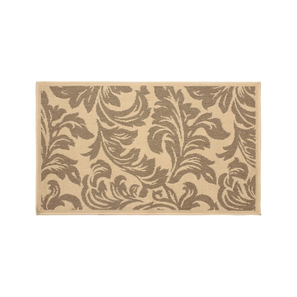 Laura Ashley Devon Taupe Indoor/Outdoor Accent Rug - (27 x 45 in.)