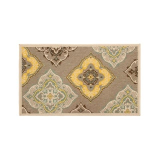 Laura Ashley Allie Taupe Indoor/Outdoor Accent Rug - (27 x 45 in.)