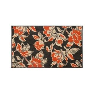Laura Ashley Carlisle Orange Indoor/Outdoor Accent Rug - (27 x 45 in.)