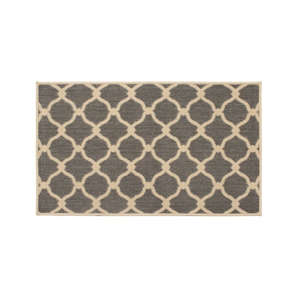 Laura Ashley Arietta Gray Indoor/Outdoor Accent Rug - (27 x 45 in.)