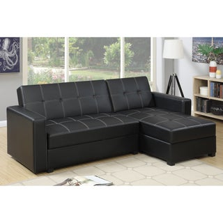 Bobkona Medora Left or Right Hand Chaise Adjustable Sectional with Compartment (3 options available)