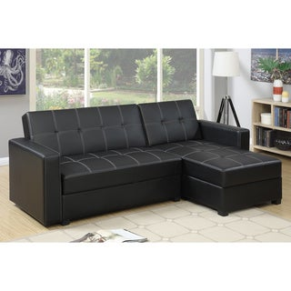 Bobkona Medora Left Or Right Hand Chaise Adjustable Sectional With  Compartment