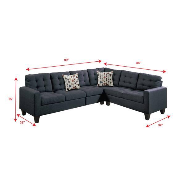 Fabulous Shop Linen Like Upholstered 4 Piece Left Or Right Hand Short Links Chair Design For Home Short Linksinfo